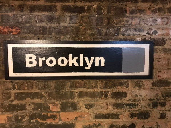 Brooklyn Grey Line Subway Sign