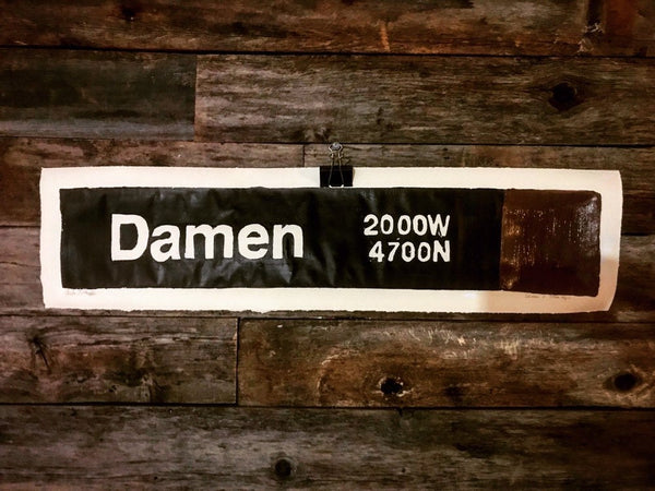 Damen Brown Line CTA Sign