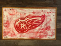 Detroit Red Wings Sign, City of Detroit, Red Wings Art, Detroit, Vintage Sign, Vintage Detroit Sign, Red Wings Sign, wooden signs