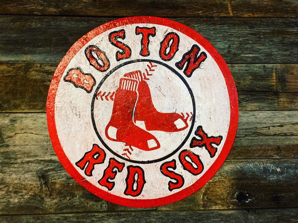 Wooden Boston Red Sox Sign