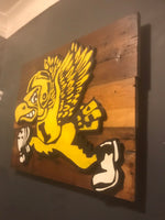 Wooden Iowa Hawkeyes Herky