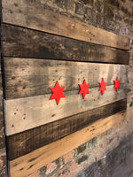Wooden Chicago Flag
