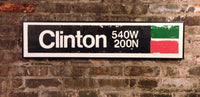 Clinton Green Line CTA Sign