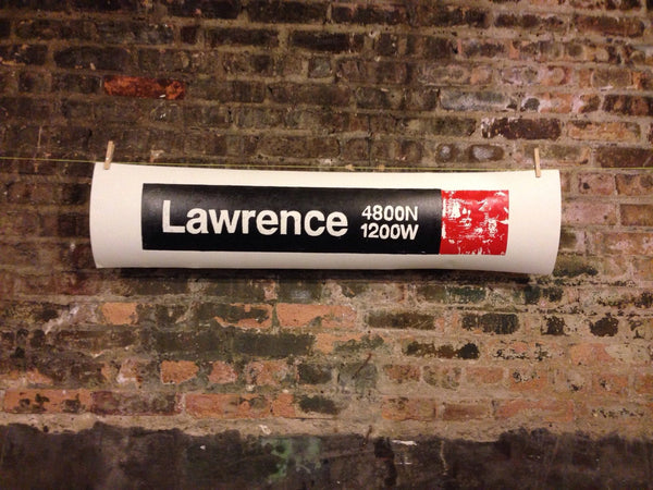 Lawrence Red Line CTA Sign