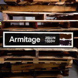 Armitage Brown Line CTA Sign
