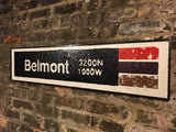 Belmont Red Line CTA Sign