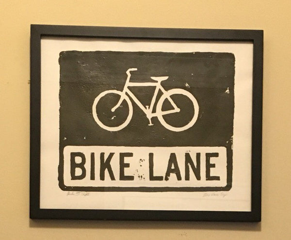 Bike Lane Relief Print