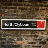 North/Clybourn Red Line CTA Sign