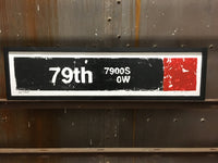 79th Street Red Line CTA Sign
