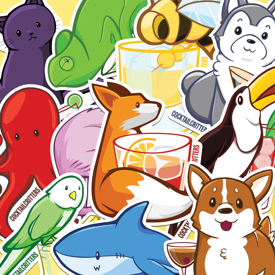 Animal Stickers | PVC Water-Resistant | Laptop