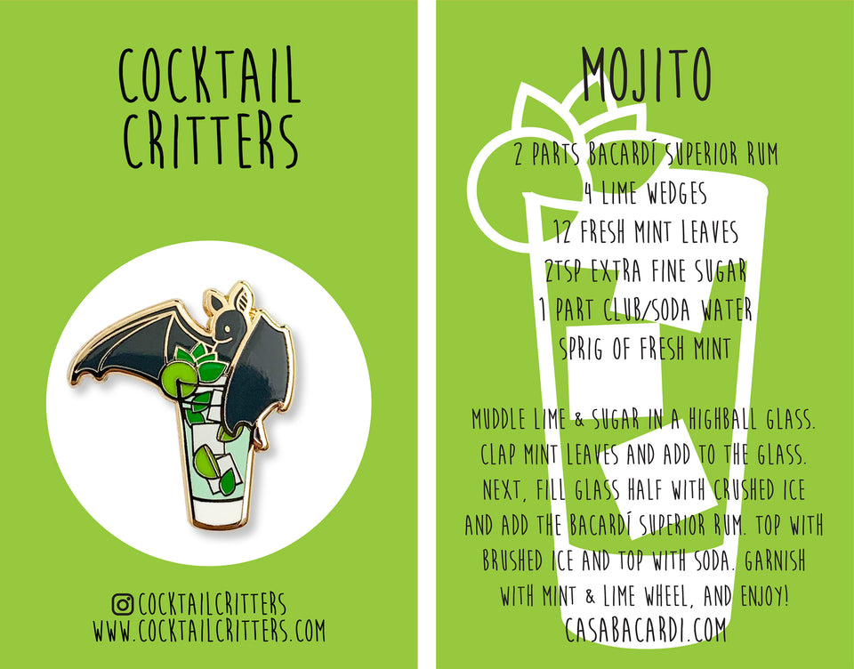 *Limited Edition* Bacardi Mojito Hard Enamel Pin