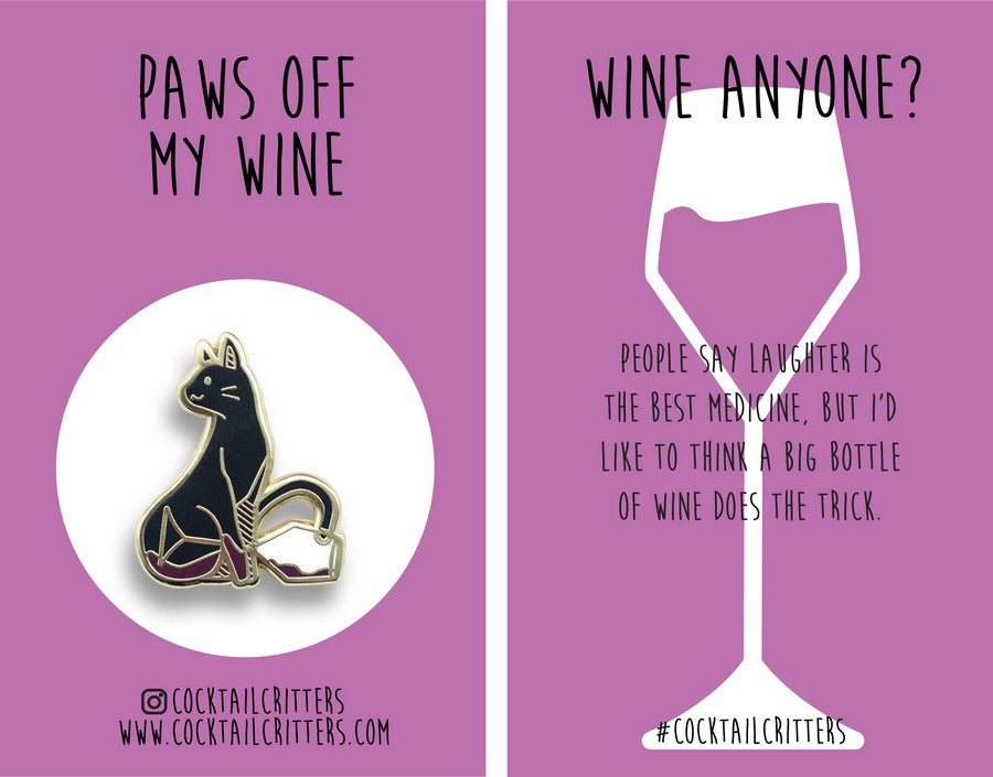 Cat x Wine Hard Enamel Pin