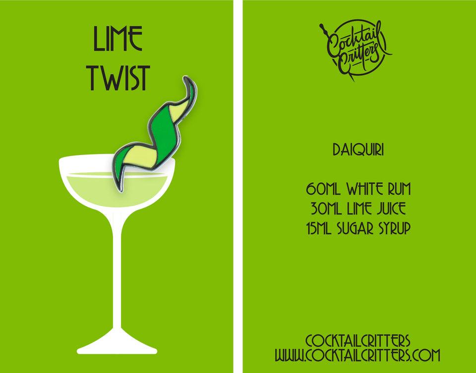 *Limited Edition* Lime Twist Hard Enamel Pin