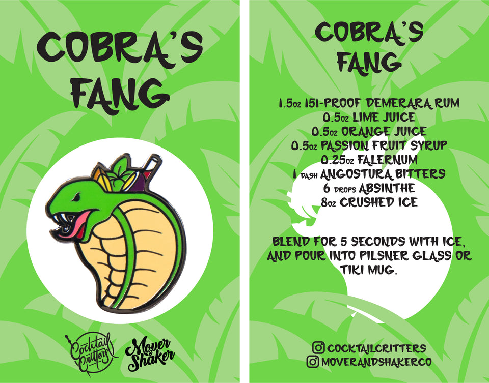 Cobra's Fang Hard Enamel Pin