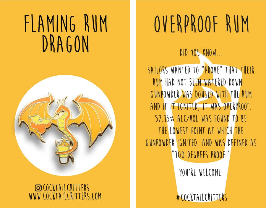 Dragon x Rum Hard Enamel Pin