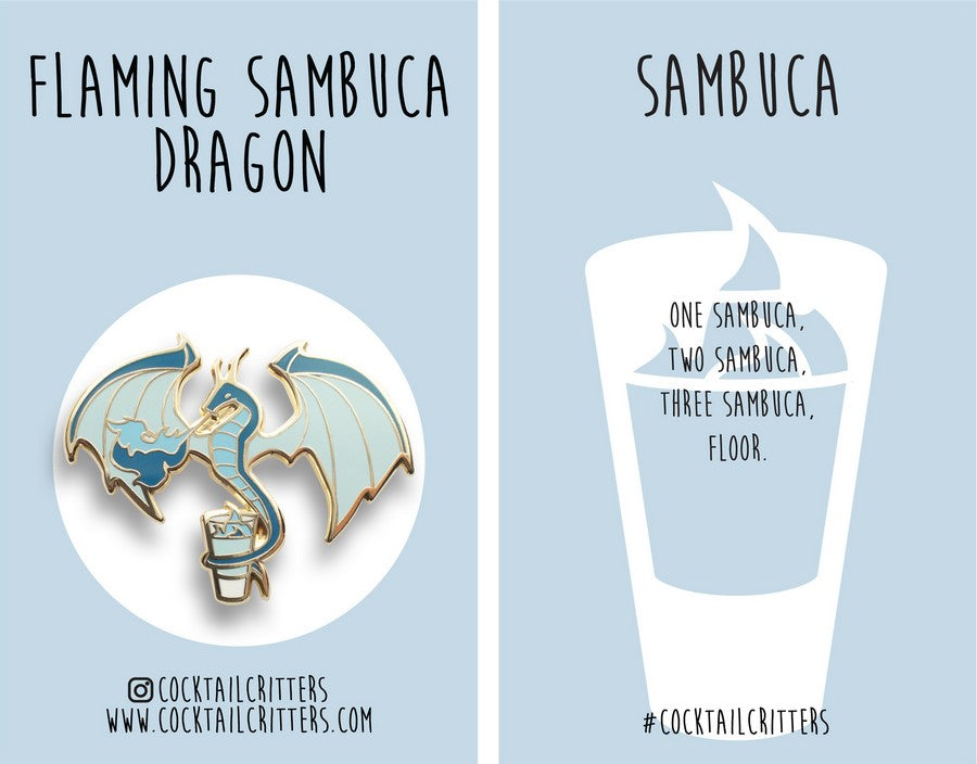 Dragon x Sambuca Hard Enamel Pin
