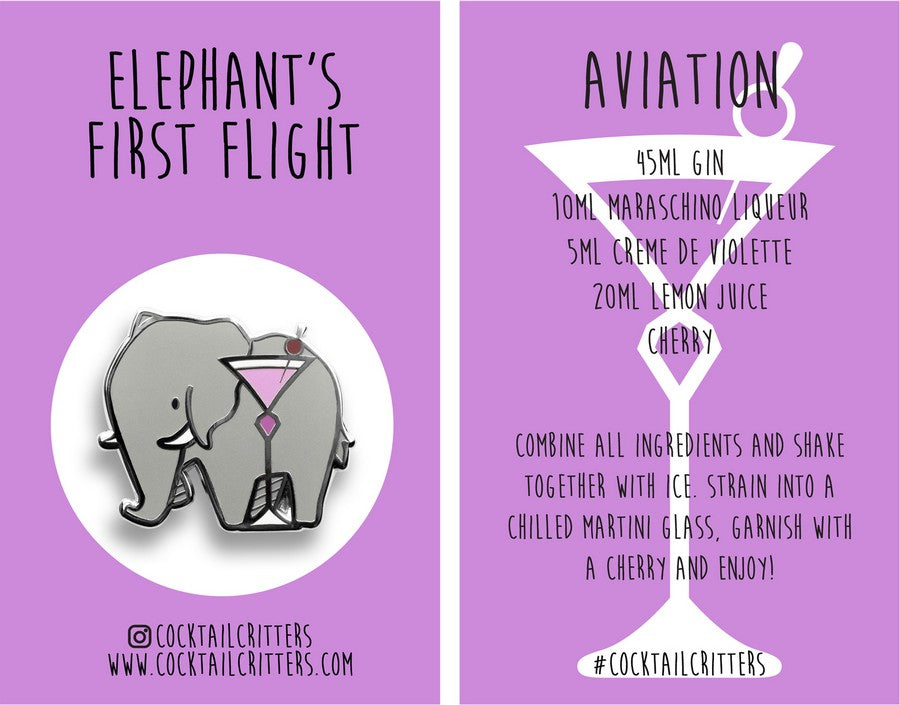 Elephant x Aviation Hard Enamel Pin