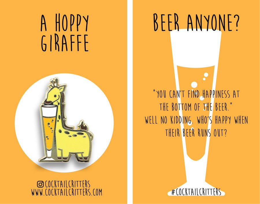 Giraffe x Beer Hard Enamel Pin