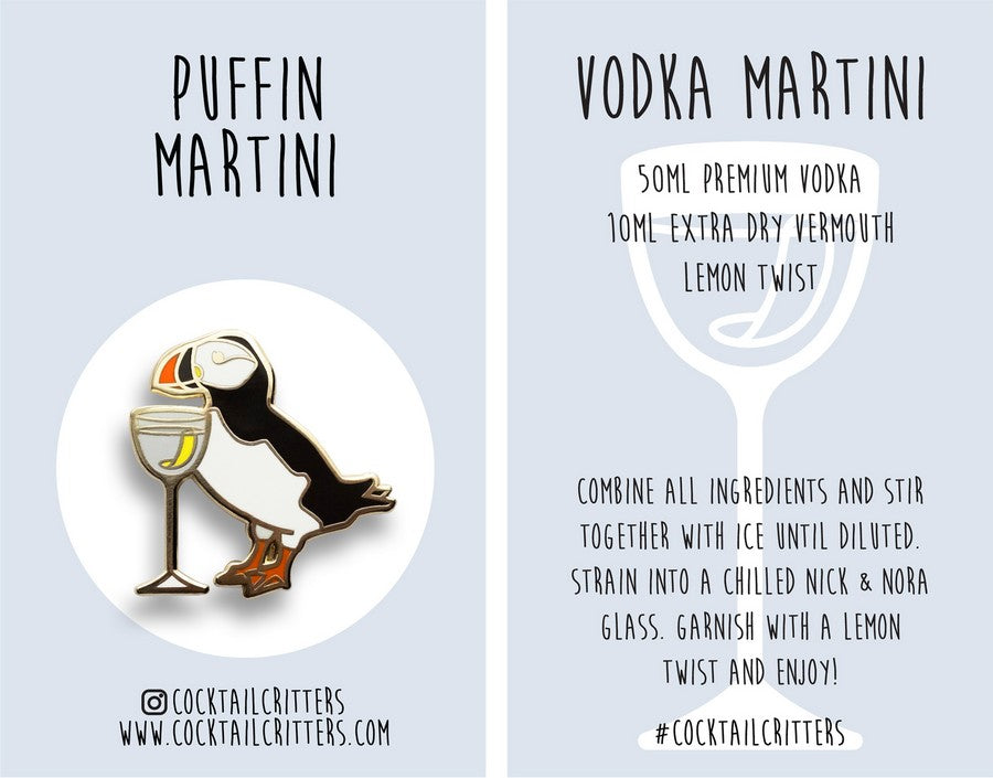 Puffin x Vodka Martini Hard Enamel Pin