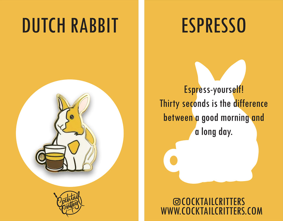 Dutch Rabbit x Espresso Hard Enamel Pin