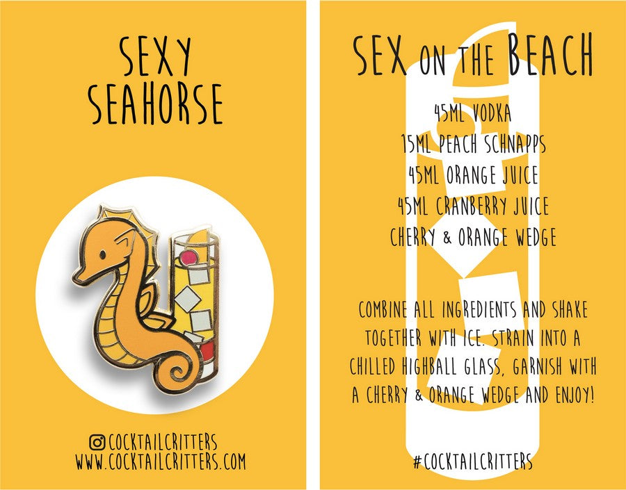 Seahorse x Sex on the Beach Hard Enamel Pin