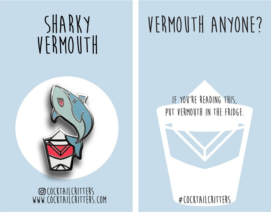 Great White Shark x Vermouth Hard Enamel Pin