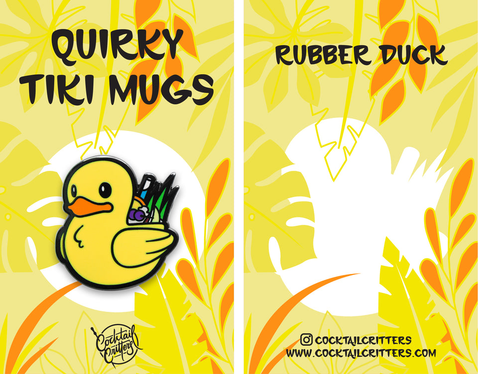 Quirky Tiki Series // Rubber Duck Hard Enamel Pin