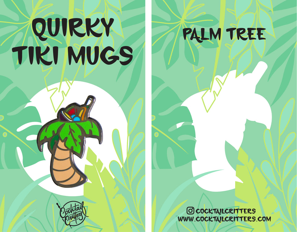 Quirky Tiki Series // Palm Tree Hard Enamel Pin
