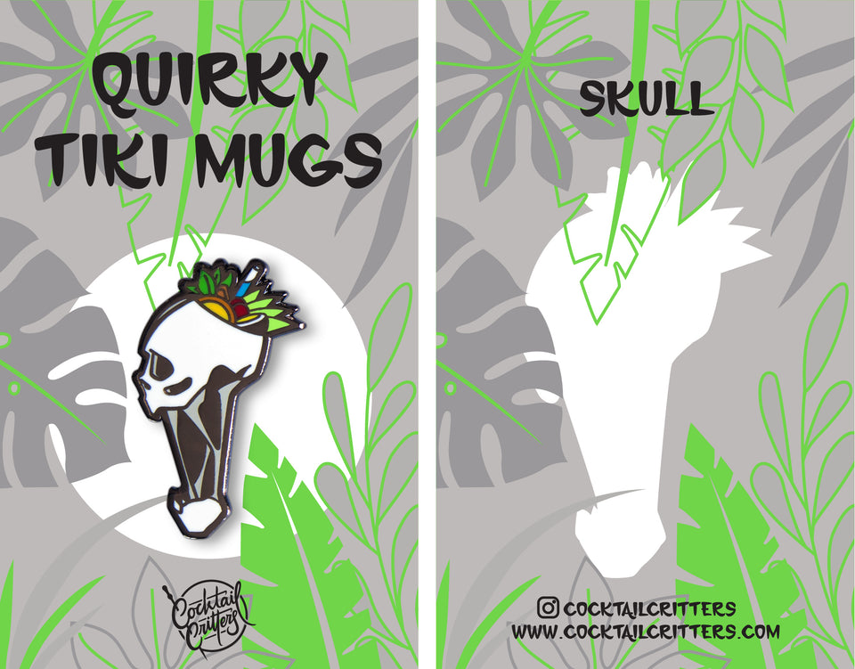 Quirky Tiki Series // Skull Hard Enamel Pin
