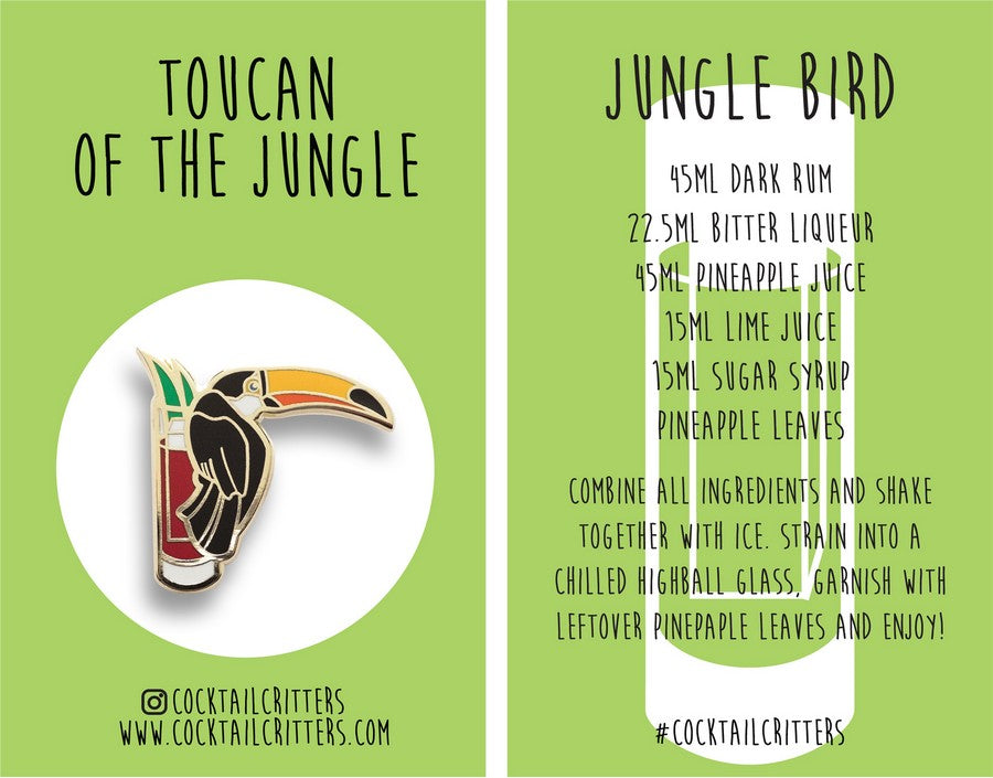 Toucan x Jungle Bird Hard Enamel Pin