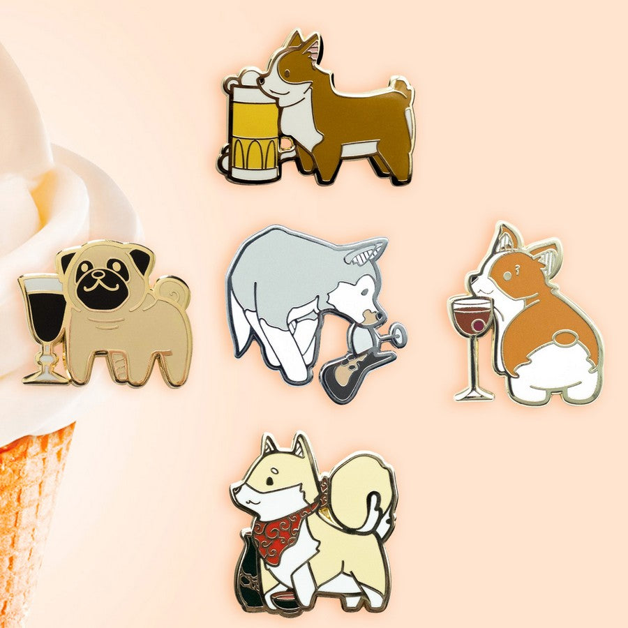 Dog Pack Set Hard Enamel Pin Series