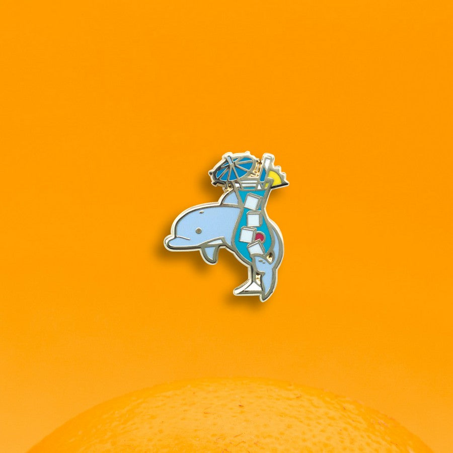 Dolphin x Blue Hawaiian Hard Enamel Pin