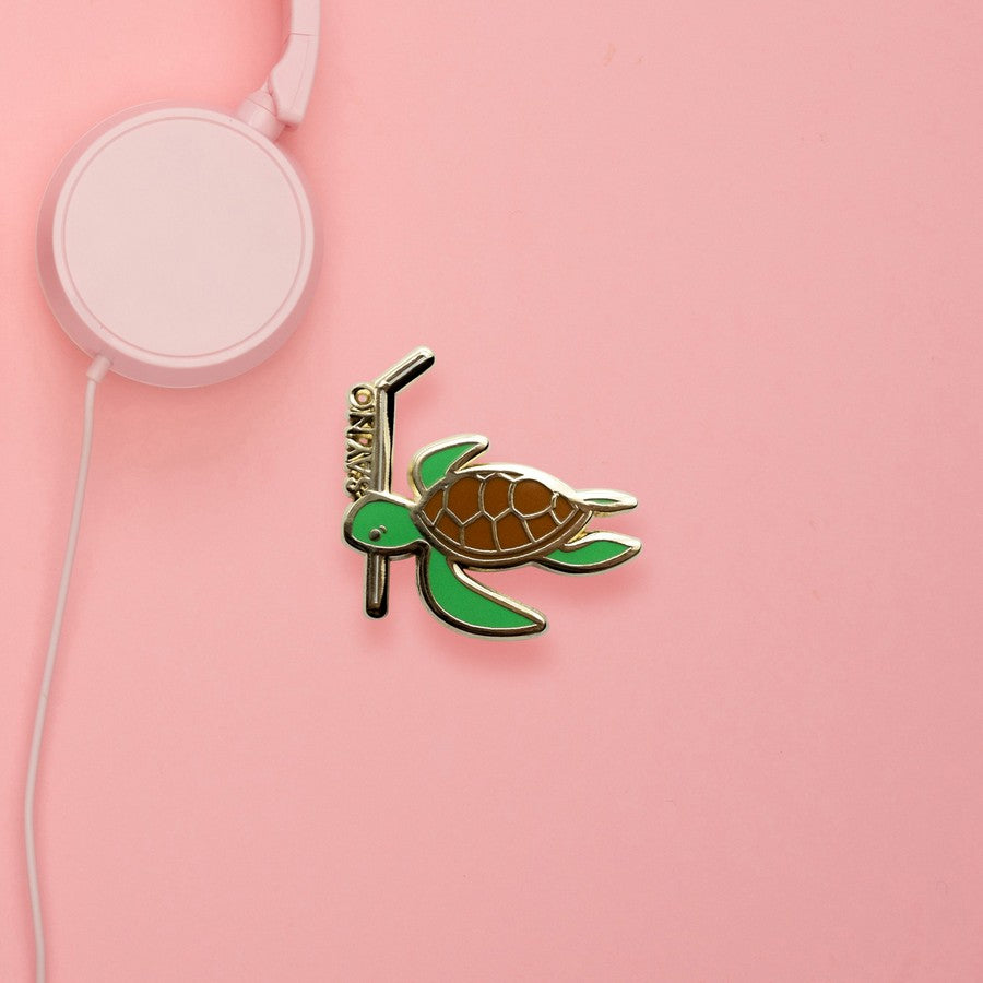 Turtle (No Straws) Hard Enamel Pin