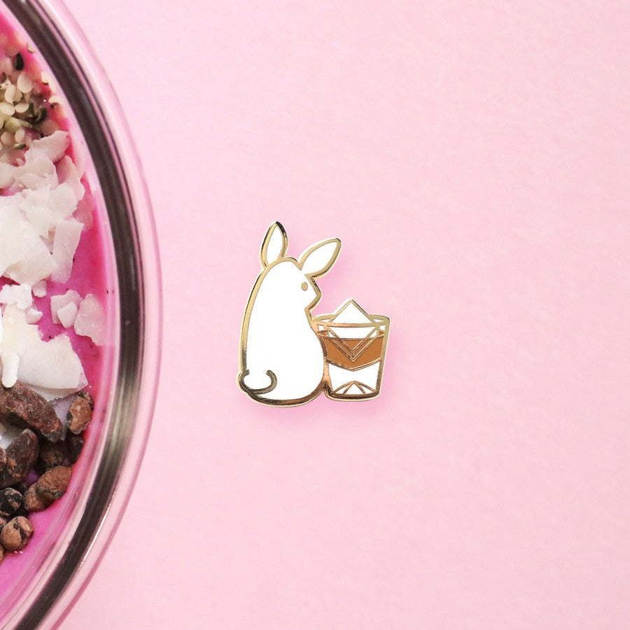Rabbit x Whisky Hard Enamel Pin