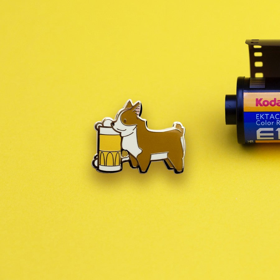 Corgi x Beer Hard Enamel Pin