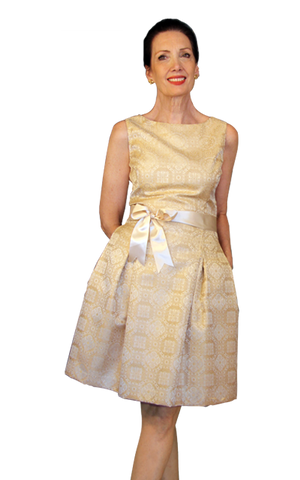 Taffeta jaquard dress