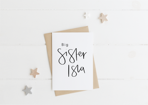 Big Sister Card & Envelope