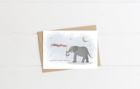 Personalised Elephant Card & Envelope