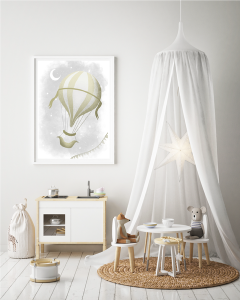 Whimsical Hot Air Balloon Print