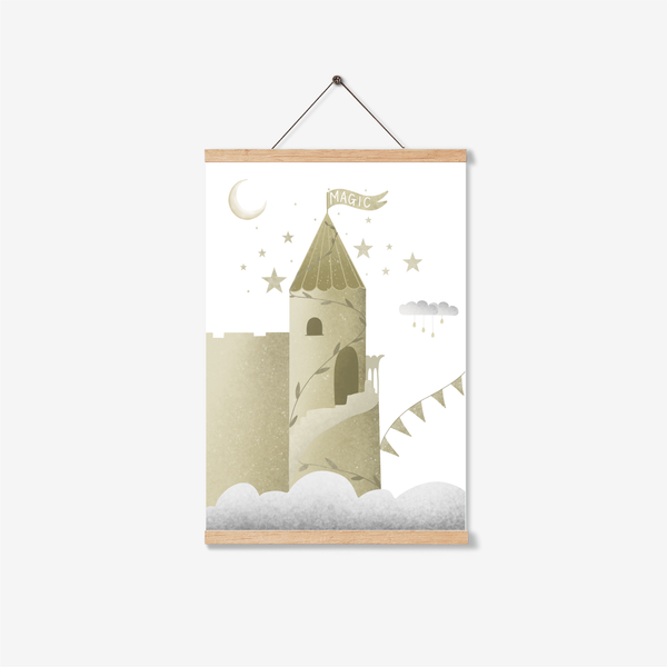 Whimsical Castle In The Sky Print