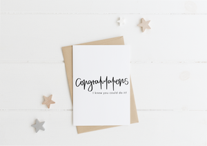 Congratulations Card & Envelope