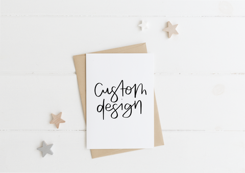 Custom Design Request Card & Envelope