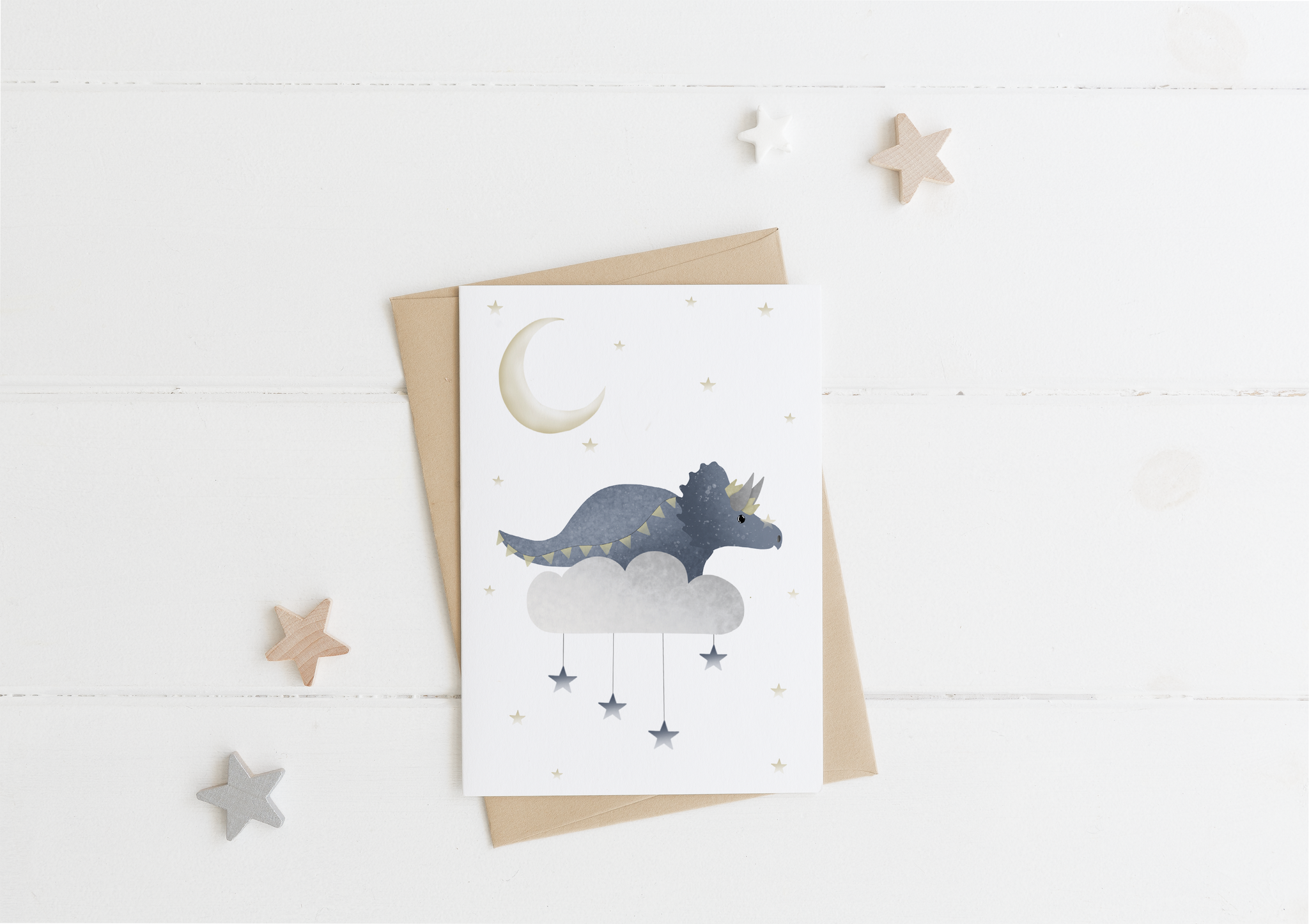 Dreamy Dinosaur Card & Envelope