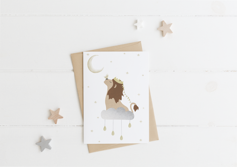 Dreamy Lion Card & Envelope