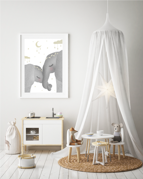 Whimsical Elephants Print
