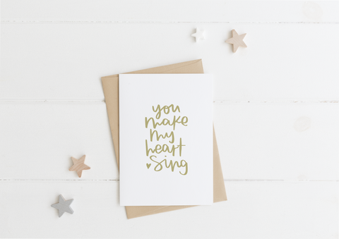 Make My Heart Sing Card & Envelope
