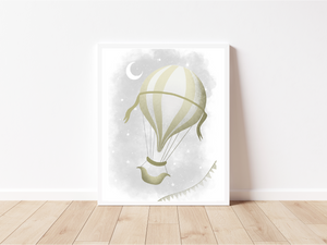 Hot Air Balloon Print