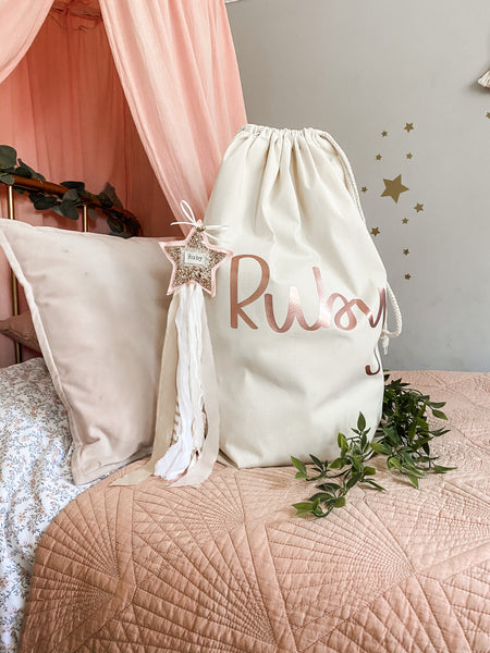 Personalised Large Premium Canvas Sack
