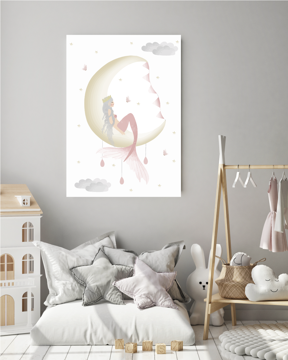 Mermaid Moon Print