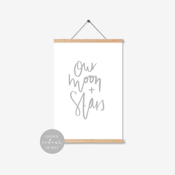 'Our Moon + Stars' Print